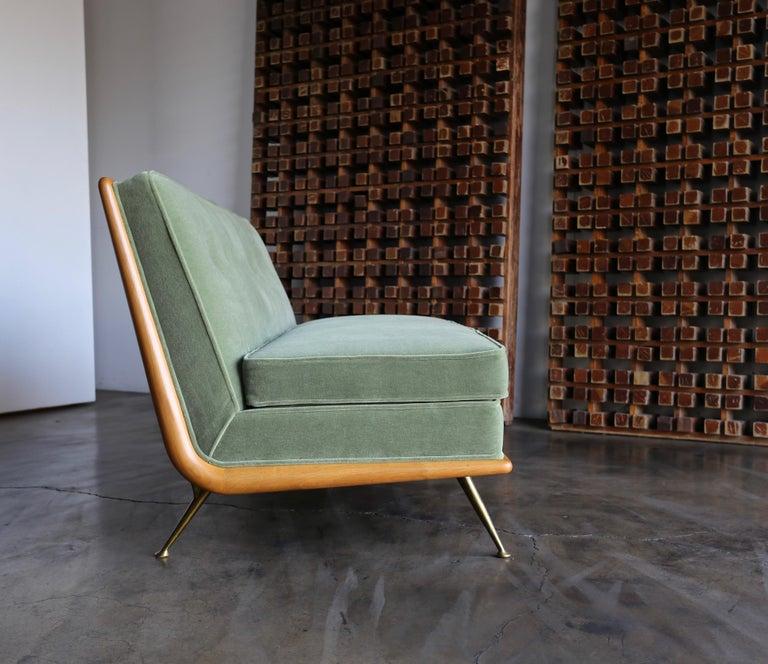Mid-Century Modern T.H. Robsjohn-Gibbings Sofa, Model 1727 for Widdicomb, circa 1955 For Sale