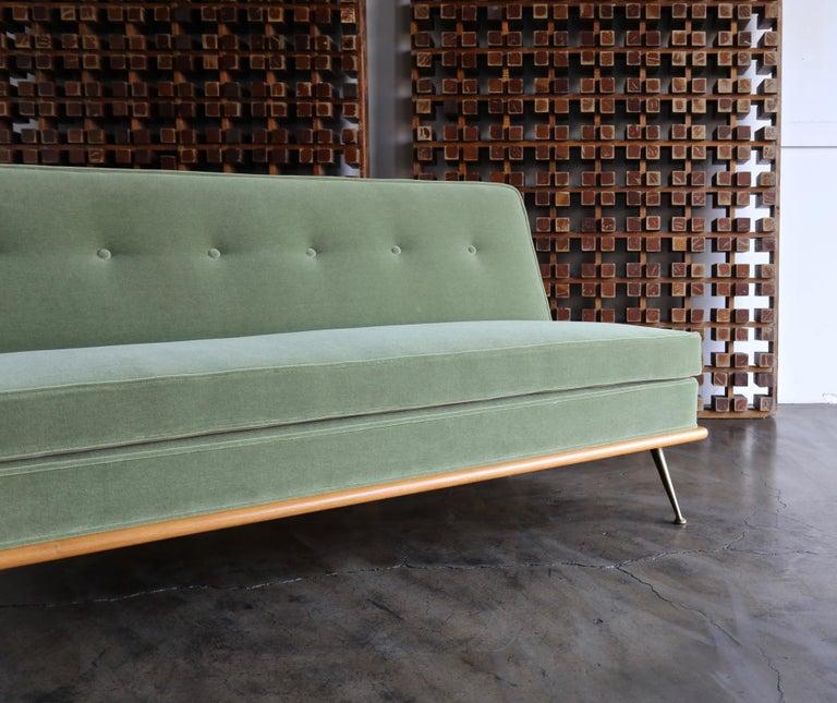 Bleached T.H. Robsjohn-Gibbings Sofa, Model 1727 for Widdicomb, circa 1955 For Sale