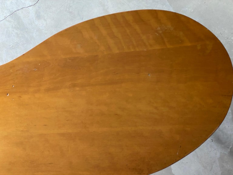Mid-20th Century T.H. Robsjohn-Gibbings Very Large Cocktail Table, Walnut, Brass, Widdicomb 1950s For Sale