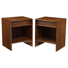 T.H. Robsjohn-Gibbings Walnut Nightstands
