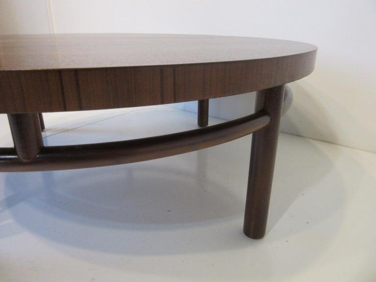 Mid-Century Modern T.H. Robsjohn-Gibbings Walnut / Teakwood Coffee Table for Widdicomb For Sale