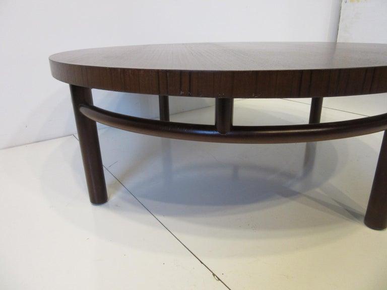 North American T.H. Robsjohn-Gibbings Walnut / Teakwood Coffee Table for Widdicomb For Sale