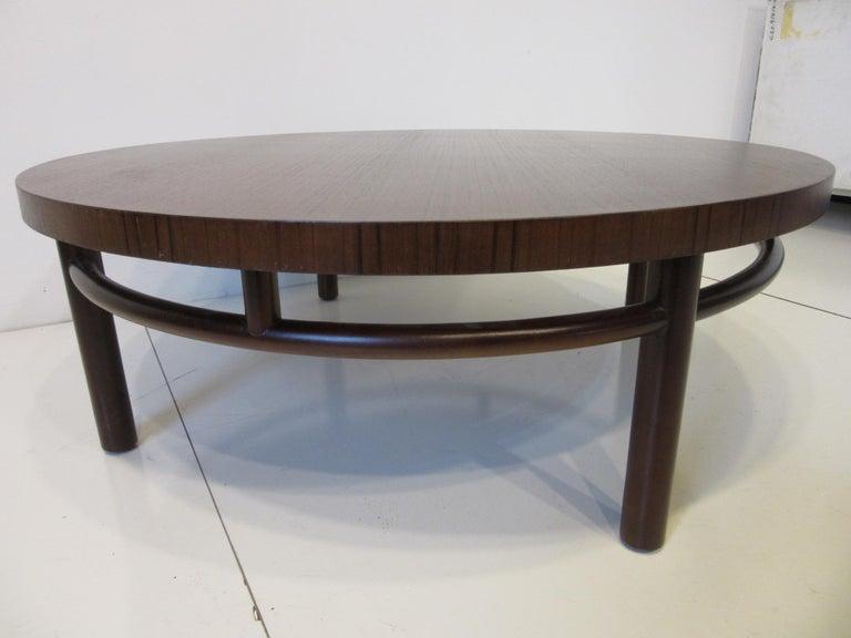 T.H. Robsjohn-Gibbings Walnut / Teakwood Coffee Table for Widdicomb In Good Condition For Sale In Cincinnati, OH