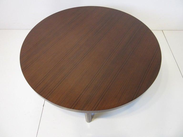 T.H. Robsjohn-Gibbings Walnut / Teakwood Coffee Table for Widdicomb For Sale 1