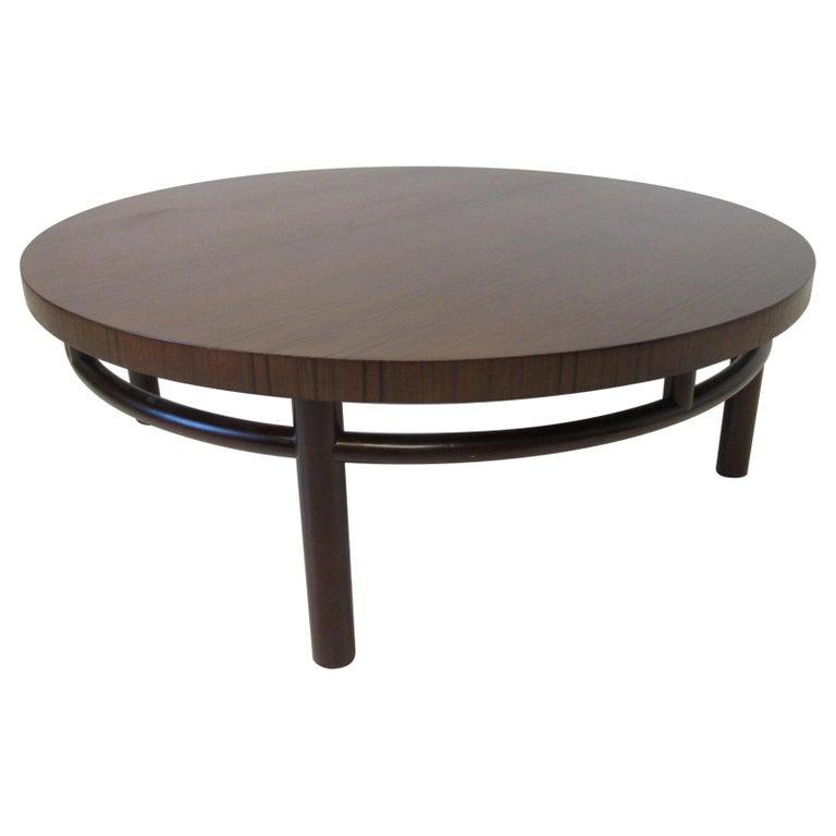 T.H. Robsjohn-Gibbings Walnut / Teakwood Coffee Table for Widdicomb For Sale