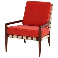 T.H. Robsjohn-Gibbings Widdicomb Strap Lounge Chair