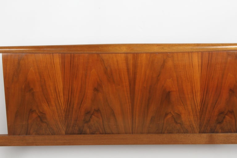 Mid-Century Modern T.H. Robsjohns-Gibbings for Widdicomb Full Size Headboard with Walnut Veneer  For Sale