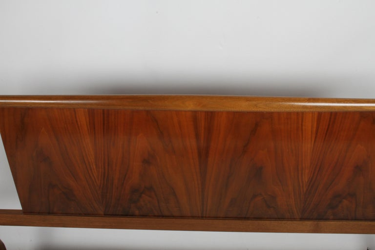 American T.H. Robsjohns-Gibbings for Widdicomb Full Size Headboard with Walnut Veneer  For Sale