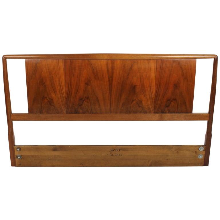 T.H. Robsjohns-Gibbings for Widdicomb Full Size Headboard with Walnut Veneer  For Sale