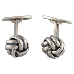 Th. Skat-Rørdam, Denmark, a Pair of Modernist Cufflinks