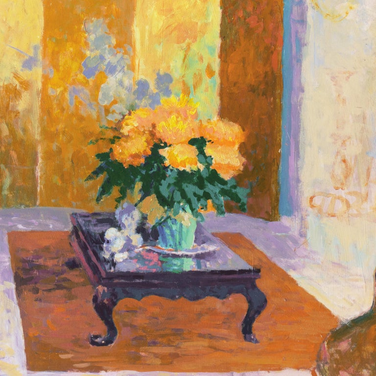 'The Sun Room', Impressionist Interior, Stanford, Cranbrook, California artist For Sale 1