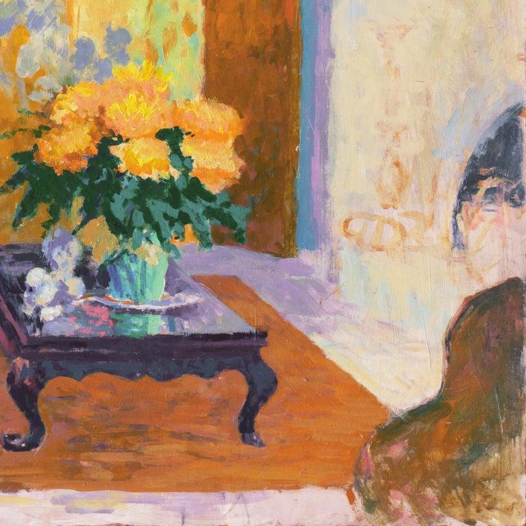 'The Sun Room', Impressionist Interior, Stanford, Cranbrook, California artist For Sale 2