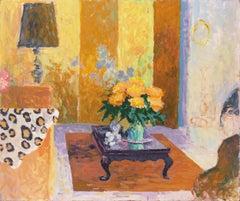 'The Sun Room', Impressionist Interior, Stanford, Cranbrook, California artist