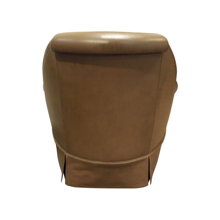 American Thad Hayes Custom Barrel Back Lounge Chair, 2000 For Sale