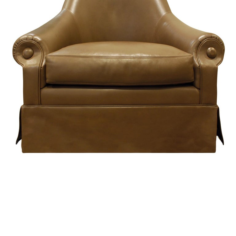 Hand-Crafted Thad Hayes Custom Barrel Back Lounge Chair, 2000 For Sale