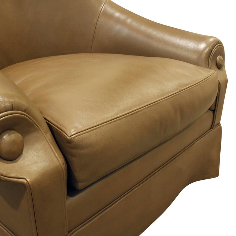 Thad Hayes Custom Barrel Back Lounge Chair, 2000 In Excellent Condition For Sale In New York, NY