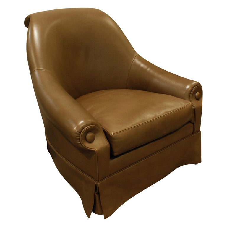 Thad Hayes Custom Barrel Back Lounge Chair, 2000 For Sale