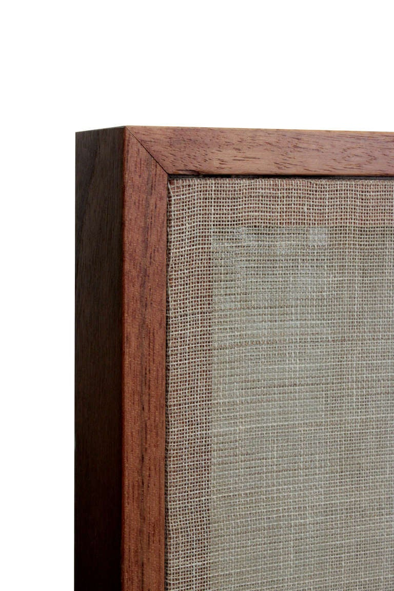 Hand-Crafted Thad Hayes Pair of Screens with Sheer Linen Panels, 1990s For Sale