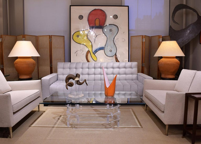 Thad Hayes Pair of Screens with Sheer Linen Panels, 1990s In Excellent Condition For Sale In New York, NY