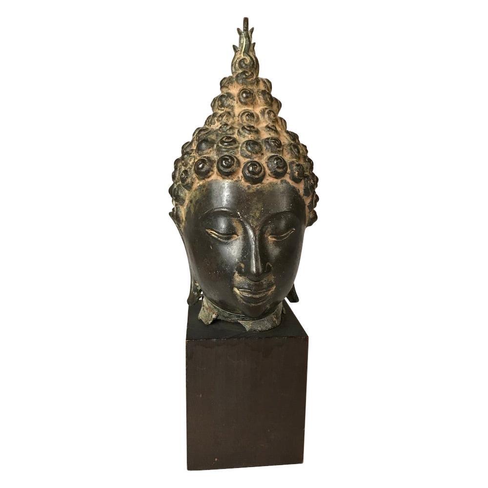 Thai Bronze Head of the Buddha