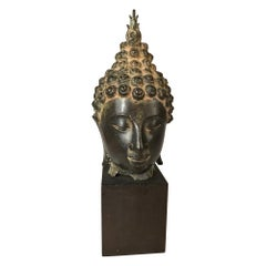Thai Bronze Head of the Buddha