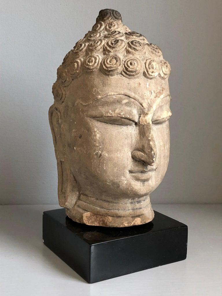 Hand-Carved Thai Buddha Head, Ayutthaya Period