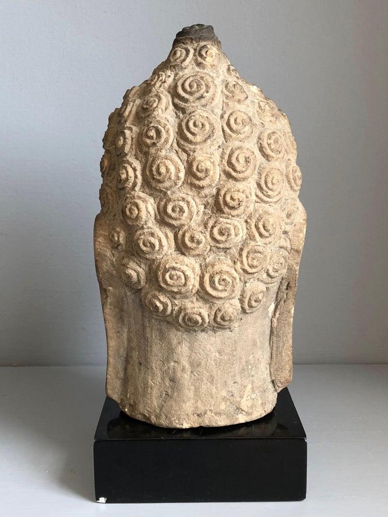 Thai Buddha Head, Ayutthaya Period In Good Condition In Doylestown, PA