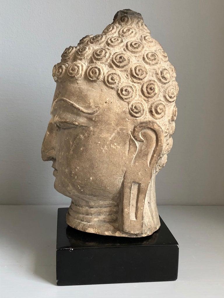 Sandstone Thai Buddha Head, Ayutthaya Period