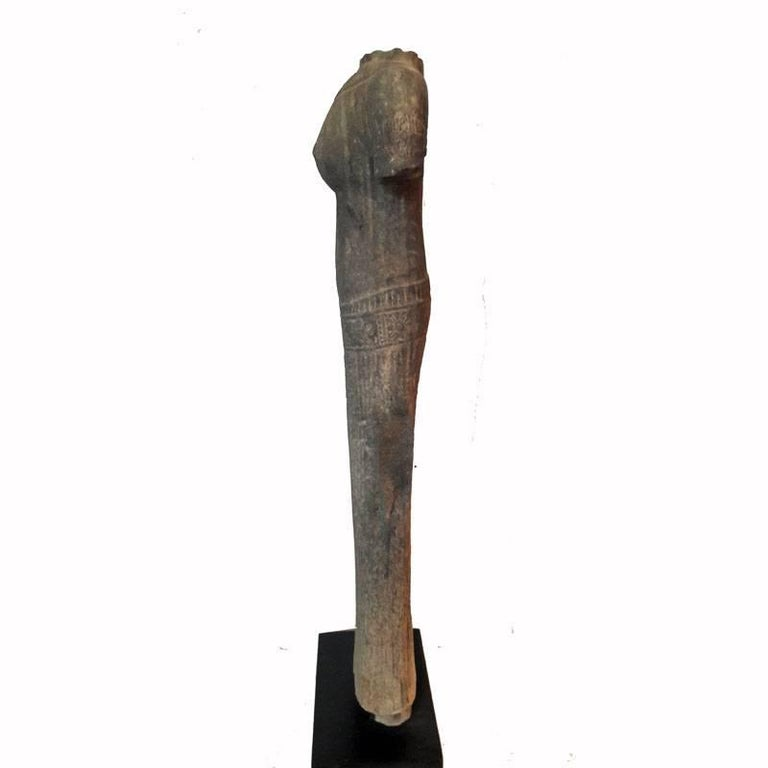 Other Thai Hand-Carved Sandstone Statue, Female For Sale