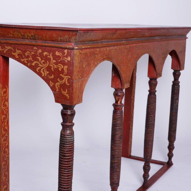 Moorish Thai Painted Altar Table or Console For Sale