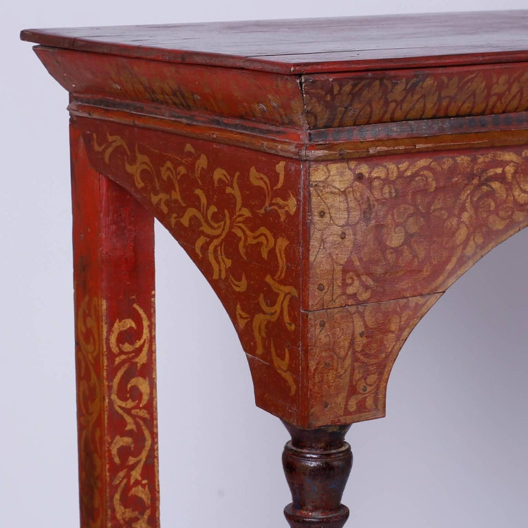 Thai Painted Altar Table or Console In Good Condition For Sale In Palm Beach, FL