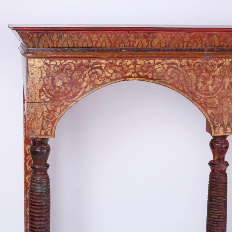 Thai Painted Altar Table or Console For Sale 2