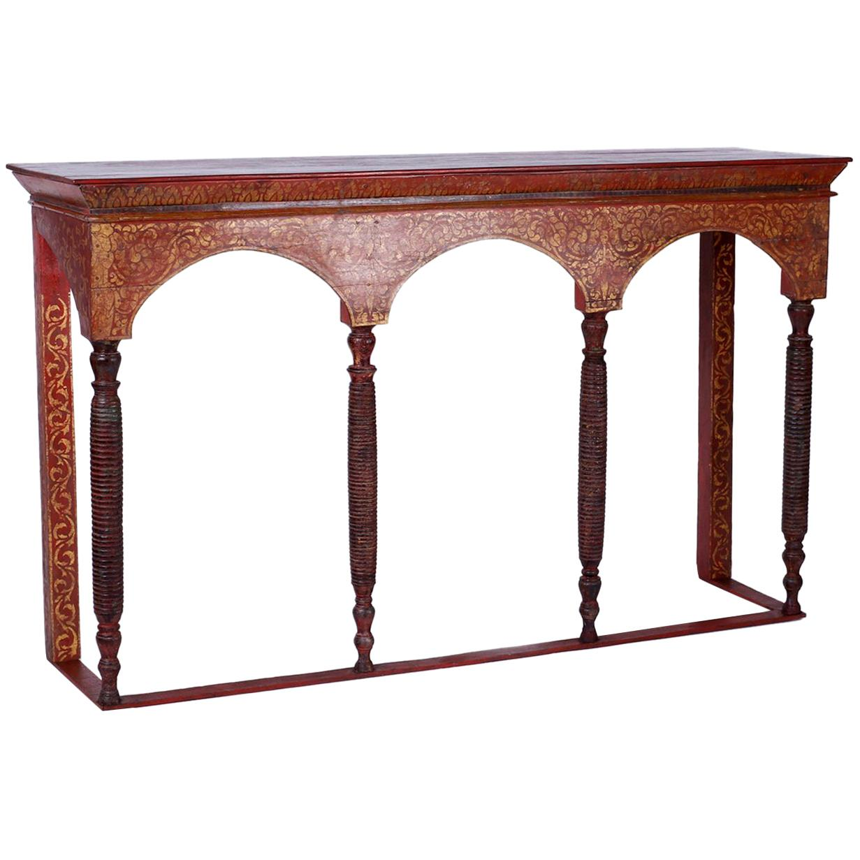 Thai Painted Altar Table or Console