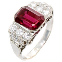 Thai Ruby and Diamond Ring