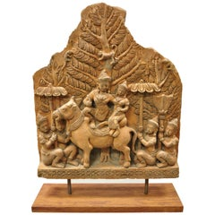 Thai Temple Buddhist Hand Carved Terracotta Figural Sculpture Statue