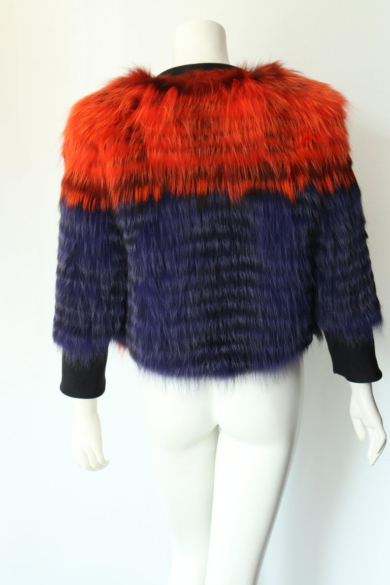 Thakoon Fox Fur Jacket  In New Condition For Sale In Los Angeles, CA