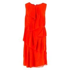 Thakoon Red Ruffle Dress 6 (UK)