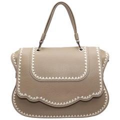 Thale Blanc Taupe Leather Handbag