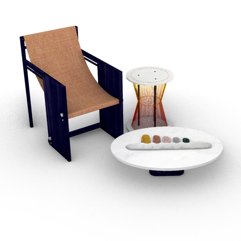 Thali, Marble Low Table, Design by Matang and Natasha Sumant For Sale 3