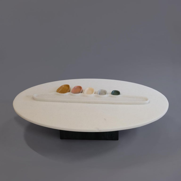 Thali, Marble Low Table, Design by Matang and Natasha Sumant For Sale 4