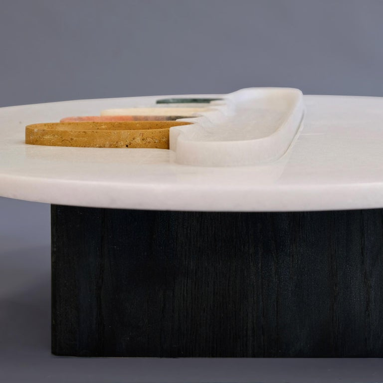 Thali, Marble Low Table, Design by Matang and Natasha Sumant In New Condition For Sale In Paris, FR