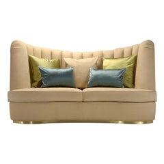 Thalia Beige 3-Seater Sofa