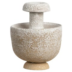 Thalia Ceramic Water Vessel and Vase in Hazelnut Stoneware by Forma