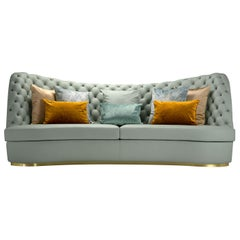 Thalia Light Blue 4-Seater Sofa