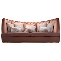 Thalia Pink 3-Seater Sofa