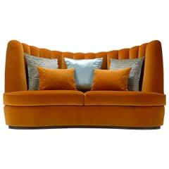 Thalia Saffron 3-Seater Sofa