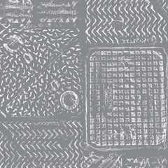 Thames-Printed London Manhole Wallpaper, Charcoal