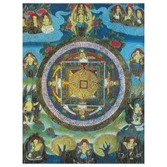 Thangka Depicting the Mandala of Avalokiteshvara, Tibet, Late 20th Century
