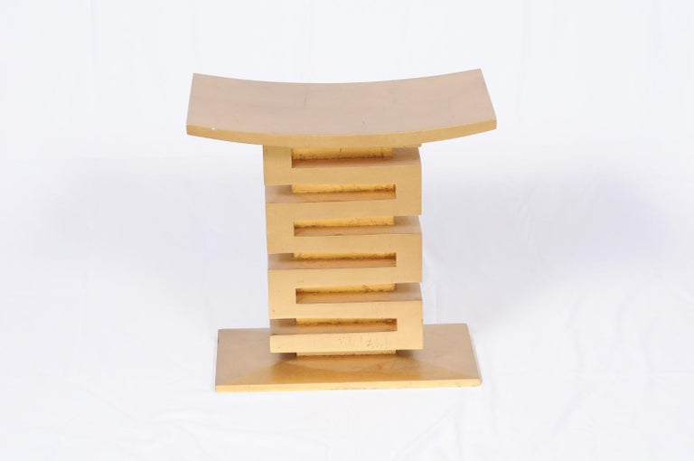 Thassos Stool by Thomas Pheasant for Baker For Sale 4