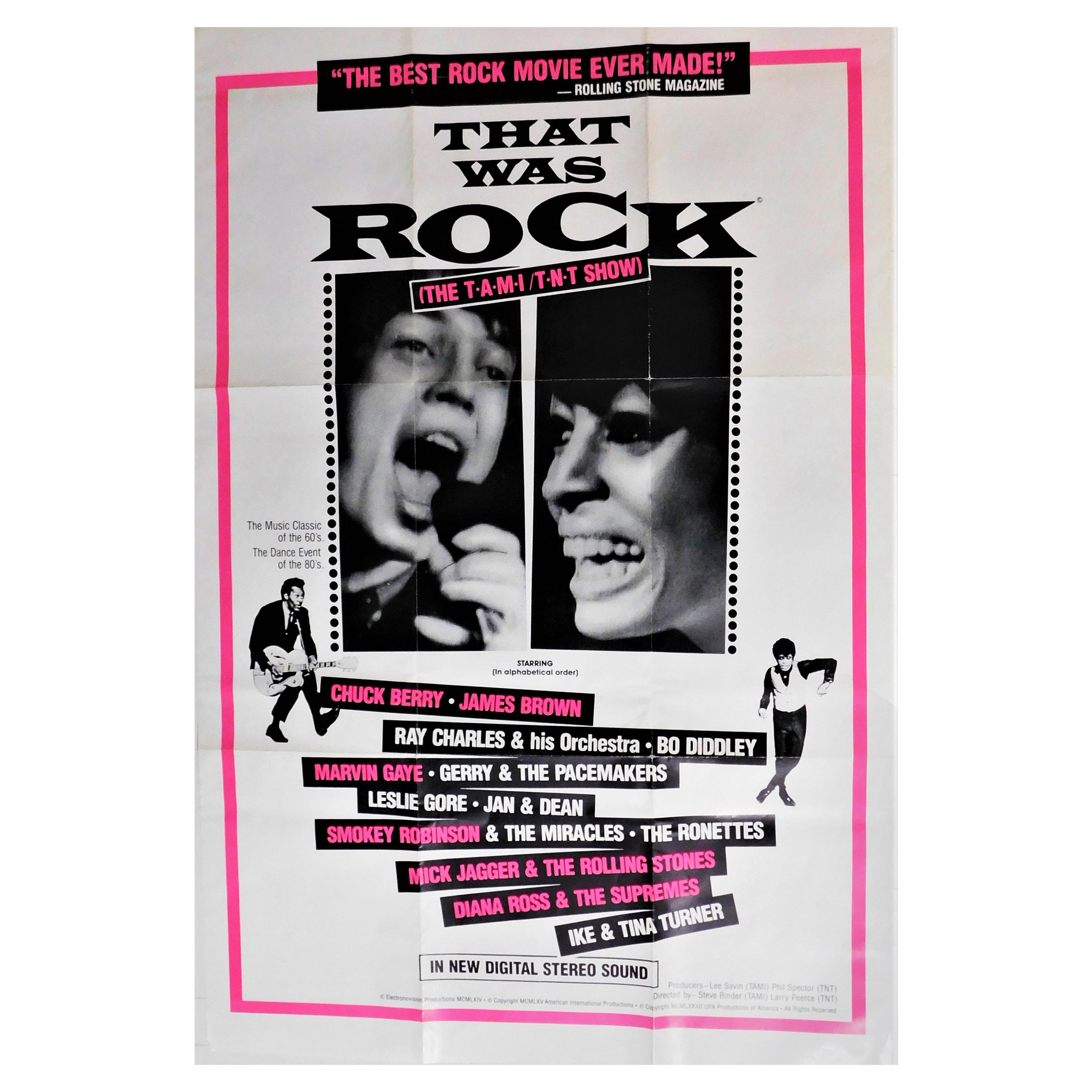 """""""That Was Rock"""" Original Vintage Theatrical One-Sheet Movie Poster Mick Jagger"""